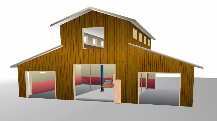 Barn style garage studio combo on pinterest garage plans for Barn style garage plans for free