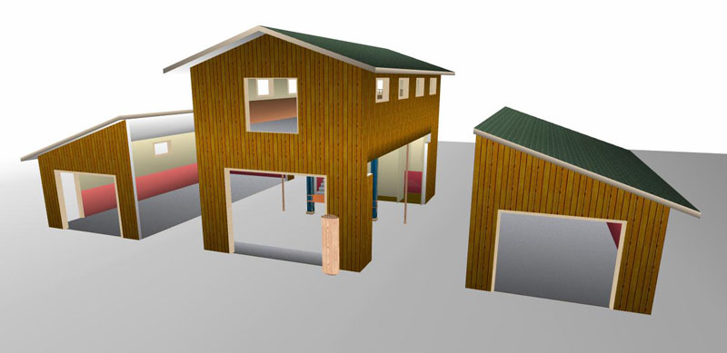 Monitor style pole barn plans joy studio design gallery for Monitor barn kit