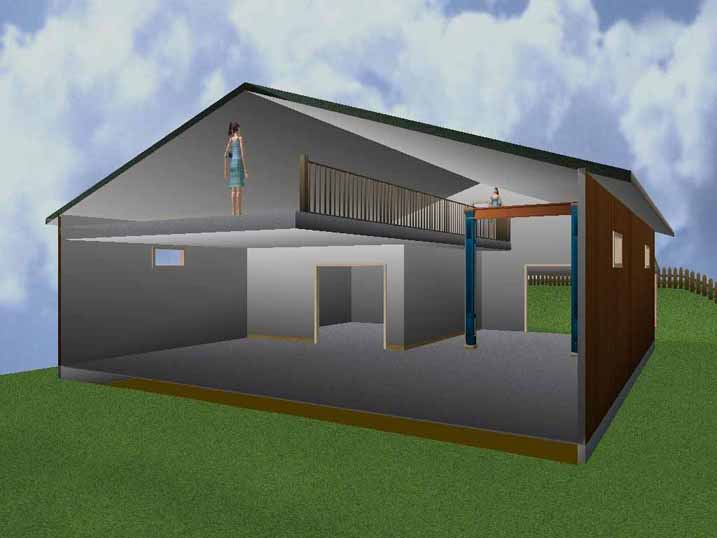 Dream shop with loft 16 photo house plans 53393 for Steel garage plans